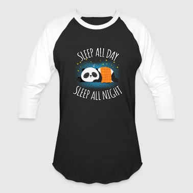 Not Lazy At All Sleep All Day Sleep All Night - Lazy Panda - Baseball T-Shirt