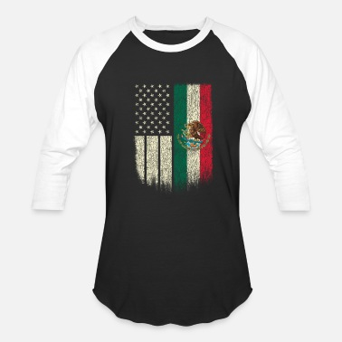 American Mexican American Patriot Mexican American Flag - Baseball T-Shirt
