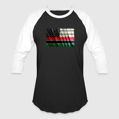 African American Flag Pan African Flag Vintage - Baseball T-Shirt