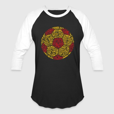 Soccer Ball Typography - Baseball T-Shirt