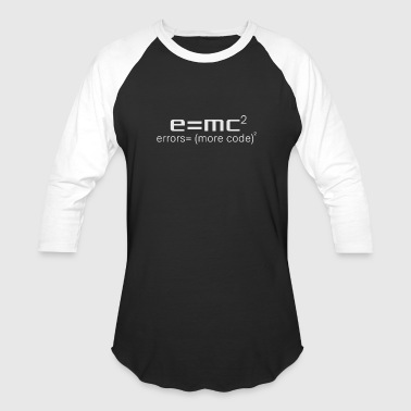 Funny Programming Shirt - E=mc square - Baseball T-Shirt