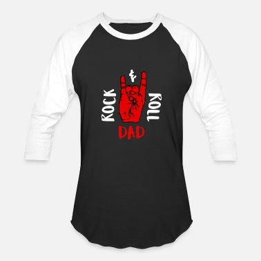Hard Rock Dad Rock & Roll Dad Fathers Day Music Daddy - Baseball T-Shirt