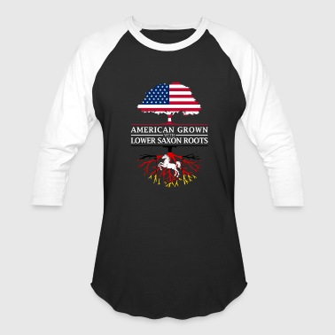 American Grown with Lower Saxon Roots Saxony Design - Baseball T-Shirt