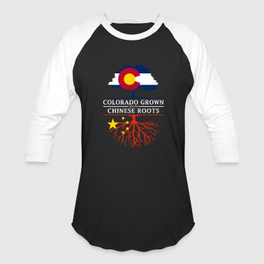 American With China Roots Colorado Grown with Chinese Roots China Design - Baseball T-Shirt