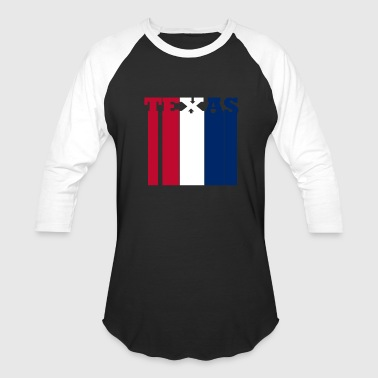 Texas in Red White & Blue - Baseball T-Shirt
