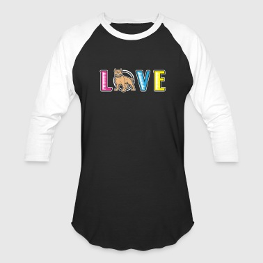 Pit Bull Love Dog - Baseball T-Shirt