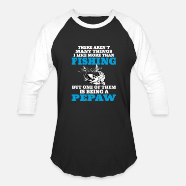Tattooed Fishing Pepaw - Baseball T-Shirt