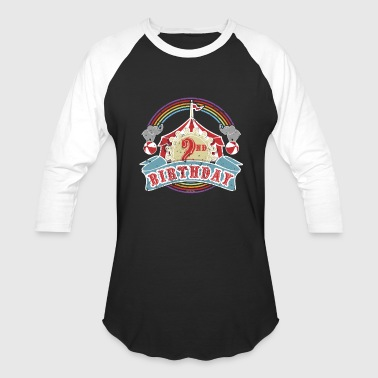 2nd Birthday Kids Circus Carnival Birthday 2nd Birthday Party Kids Shirt - Baseball T-Shirt