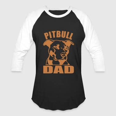 PITBULL DAD - Baseball T-Shirt