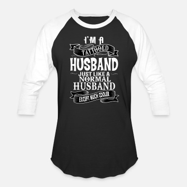 Husband TATTOOED HUSBAND - Baseball T-Shirt