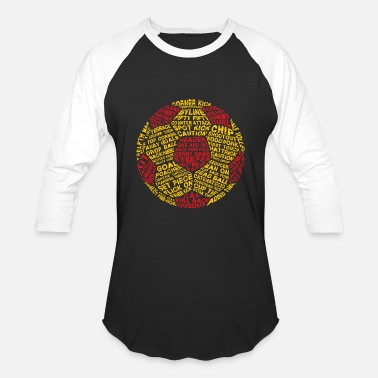 Sterren Soccer Ball Typography - Baseball T-Shirt