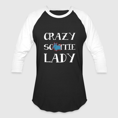 Scottie Dog Jokes Crazy Scottie Lady Dog - Baseball T-Shirt