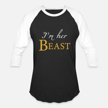 Matching Couple - i'm her beast his beauty matching coup - Baseball T-Shirt