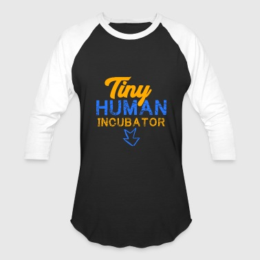 Pregnancy Announcement Tiny Human Incubator, Cute Pregnancy, Pregnancy Reveal - Baseball T-Shirt