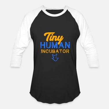 Pregnancy Tiny Human Incubator, Cute Pregnancy, Pregnancy Reveal - Baseball T-Shirt