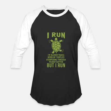 Stampeders Turtles Stampeding Peanut Butter Run Graphic - Baseball T-Shirt