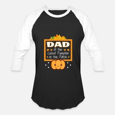 Cutest Dad of the Cutest Pumpkin in the Patch Father - Baseball T-Shirt