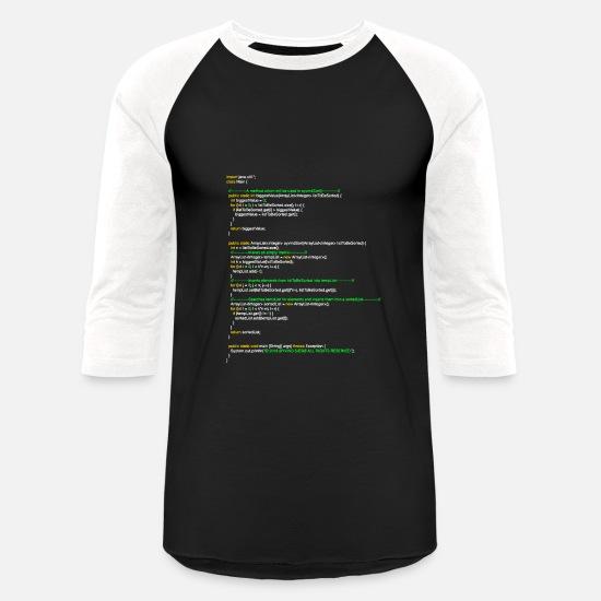 8a13b720e Java T-Shirts - oyvindSort() java code - Unisex Baseball T-Shirt