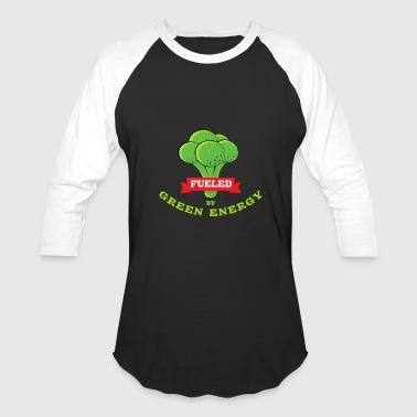 Funny vegan: fueled by green energy - Baseball T-Shirt