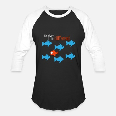 Autism Moms Autism - autism mom - it's ok to be different - - Baseball T-Shirt