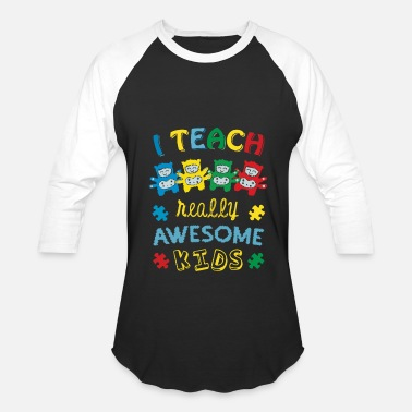 Awesome Autism Autism I Teach Awesome Kids Autism - Baseball T-Shirt