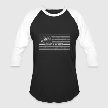 Snowmobile Flag Snowmobile Clothing Tshirt - Baseball T-Shirt