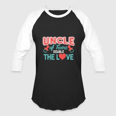 Double Twins Uncle of twins, Double The Love, Uncle Twins Gift, Gift For Uncle of Twins - Baseball T-Shirt