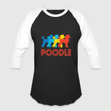 Poodle Art Poodle Pop Art - Baseball T-Shirt