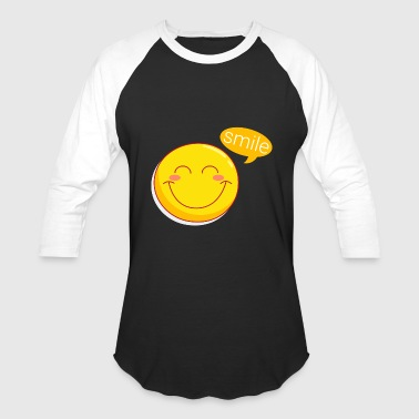 funny smiley face - Baseball T-Shirt