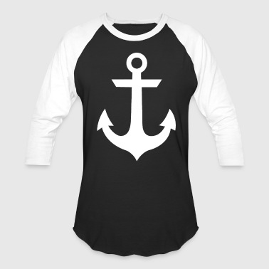 White Anchor - Baseball T-Shirt