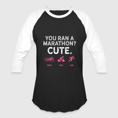 Running Design You Ran A Marathon Pink Cross Country Fitness Funny Gift - Baseball T-Shirt