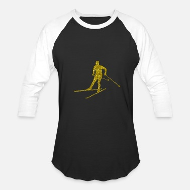 Cross-country Skiing Golden Cross-country skiing - Baseball T-Shirt
