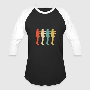 Retro Violin Pop Art - Baseball T-Shirt