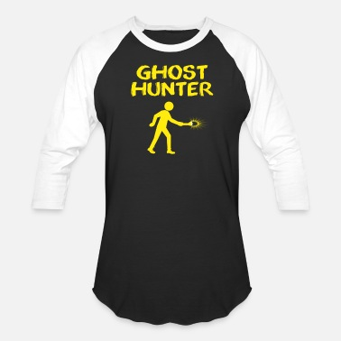 Ghost Ghost Hunter with Flash Light - Baseball T-Shirt