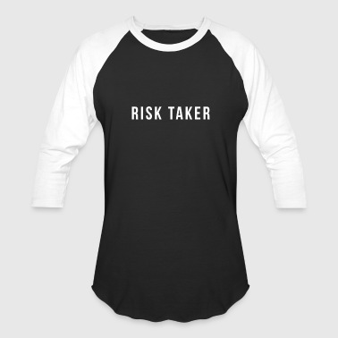 Risk Taker White - Baseball T-Shirt