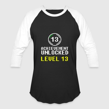Level 13 Unlocked achievement unlocked level 13 - Baseball T-Shirt