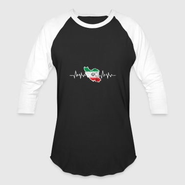 Iran flag - Baseball T-Shirt
