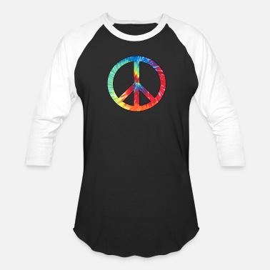 Hippie Tie Dye Peace  Sign - Baseball T-Shirt
