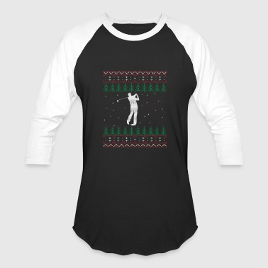 Christmas Gift For Golf Golfing Ugly Christmas Sweater Gift - Baseball T-Shirt