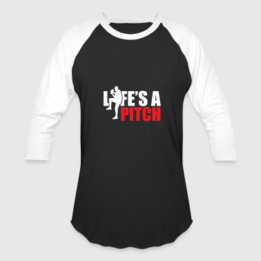 He Has Balls Lifes a pitch baseball hobby ball gift throw - Baseball T-Shirt