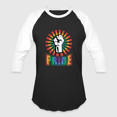 Gay Fist GAY PRIDE FIST - Baseball T-Shirt
