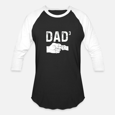 Daughters Dad Of Three Daughters Baby Announcement - Baseball T-Shirt