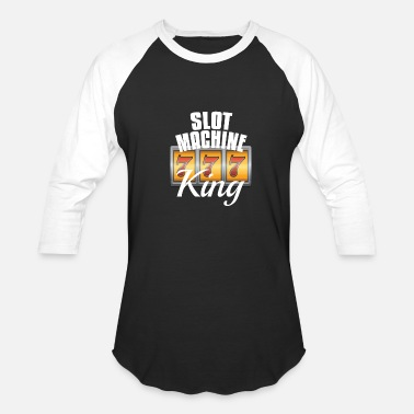 Machine Slot Machine Gift King Grandpa Casino Gambler - Baseball T-Shirt