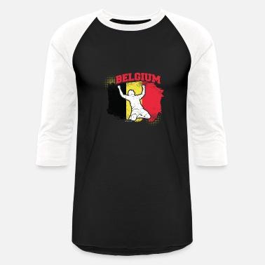 d1c4e06a5 Belgium National Football Team Football Soccer Belgium Flag - Unisex  Baseball T-Shirt