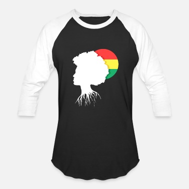 Afro-latino Afro African Roots - Baseball T-Shirt