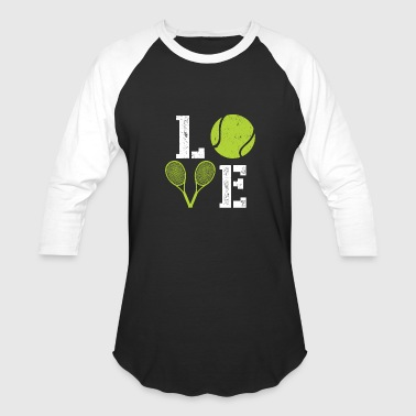 Tennis Love Love Tennis - Baseball T-Shirt