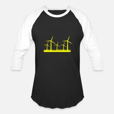 Wind Energy Renewable Energy - Wind Energy T-Shirt Design - Baseball T-Shirt
