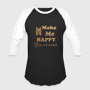 Woodstock Dvd dog make me happy - Baseball T-Shirt