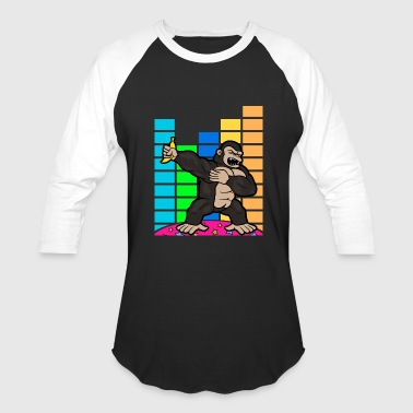 Dabbing Dab Gorilla Disco Party Music Discothek - Baseball T-Shirt