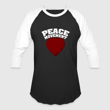 Peace movement - Peace - Total Basics - Baseball T-Shirt